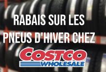 Rabais sur les pneus d'hiver chez Costco