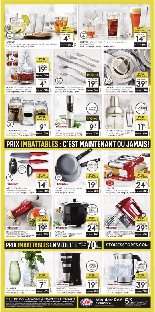 Circulaire Stokes de la vente du Pré-Vendredi Fou 2019!