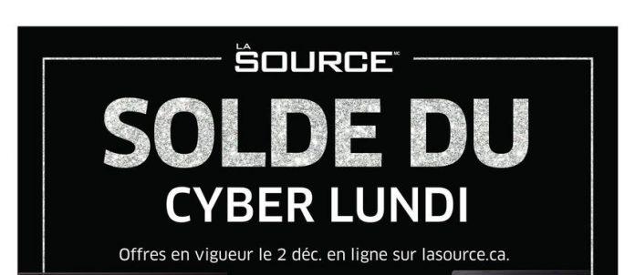 Solde du Cyber Lundi chez La Source