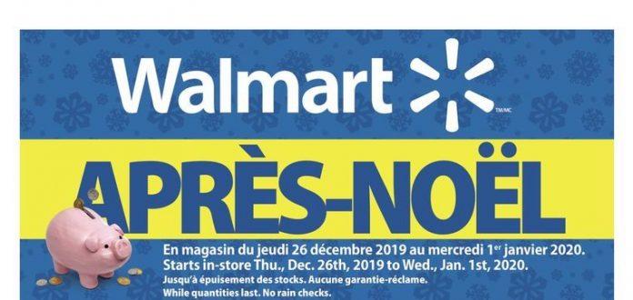 Circulaire du Boxing Day chez Walmart