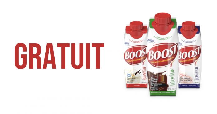 Échantillons de boisson Boost gratuite!