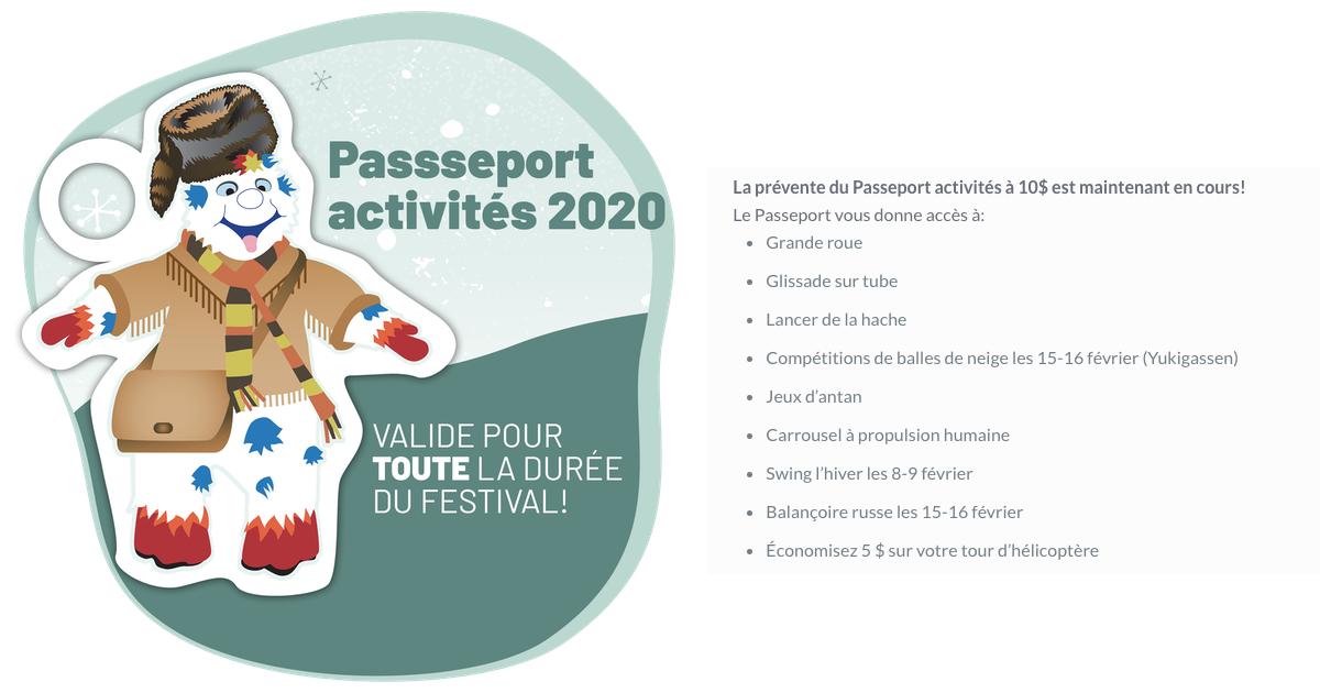Rabais sur le passeport d'activités du Festival Feu et Glace de Repentigny